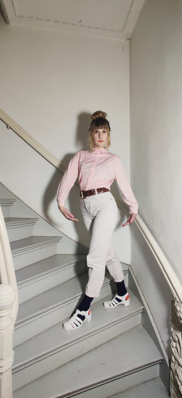 Norma's blouse pink vintage